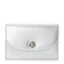 Roland Cartier - Silver 'Brissa' circular turn lock clutch bag