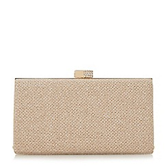 Roland Cartier - Gold 'Bayliss' embellished clasp hard case clutch bag