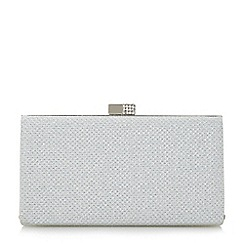 Roland Cartier - Silver 'Bayliss' embellished clasp hard case clutch bag
