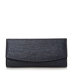 Roland Cartier - Navy 'Brona' flap over clutch bag