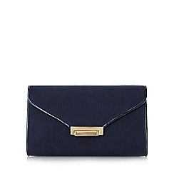 Roland Cartier - Navy 'Baden' flip lock clutch bag