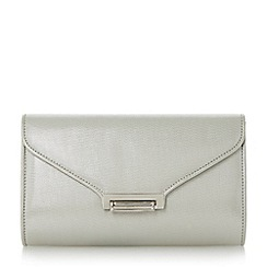 Roland Cartier - Silver 'Baden' flip lock clutch bag