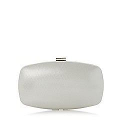 Roland Cartier - Silver 'Bryn' hard case frame detail clutch bag