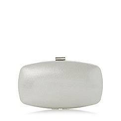 Roland Cartier - Silver 'Bryn' hard case frame detail clutch bag
