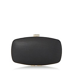 Roland Cartier - Black 'Bryn' hard case frame detail clutch bag