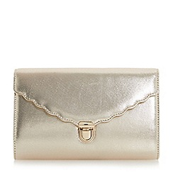 Roland Cartier - Gold 'Blythe' scallop detail clutch bag