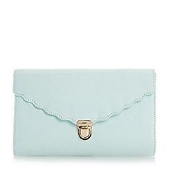 Roland Cartier - Light green 'Blythe' scallop detail clutch bag