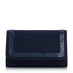 Roland Cartier - Navy 'Bevis' embellished flap over clutch bag