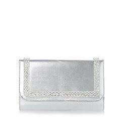 Roland Cartier - Silver 'Bevis' embellished flap over clutch bag