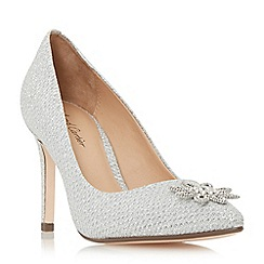 Roland Cartier - Silver 'Beeming' brooch detail pointed toe court shoes