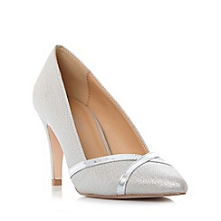 Roland Cartier - Silver 'Breena' cross over detail court shoe