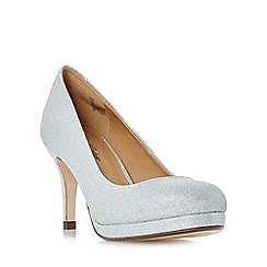 Roland Cartier - Silver 'Baley' glitter platform court shoes