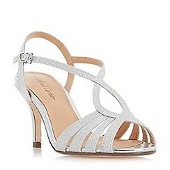 Roland Cartier - Silver 'Mandarin' strappy mid heel sandals