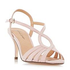 Roland Cartier - Pink 'Mandarin' strappy mid heel sandals