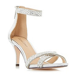Roland Cartier - Silver 'Morocco' embellished cross strap sandals