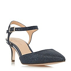 Roland Cartier - Navy 'Dabble' two part mid heel court shoes