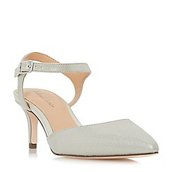 Roland Cartier - Silver 'Dabble' two part mid heel court shoes