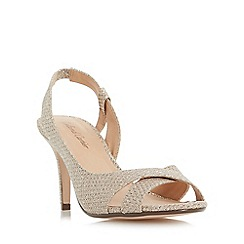Roland Cartier - Gold 'Disco' slingback semi d'orsay peep toe sandals