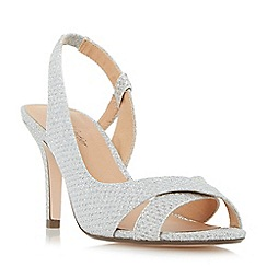 Roland Cartier - Silver 'Disco' slingback semi d'orsay peep toe sandals