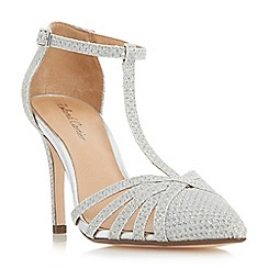 Roland Cartier - Silver 'Dazzled' strappy t bar court shoes