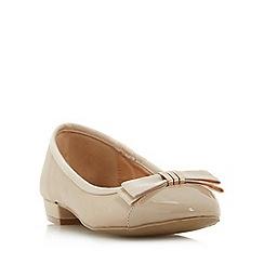 Roberto Vianni - Natural 'Hilba' toecap bow trim ballerina shoe