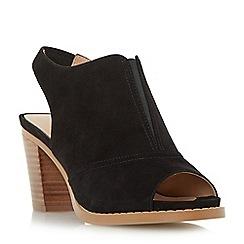 Roberto Vianni - Black 'Ima' peep toe slingback sandals