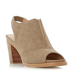 Roberto Vianni - Taupe 'Ima' peep toe slingback sandals