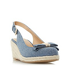 Roberto Vianni - Blue 'Karma' slingback espadrille wedge shoes