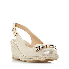 Roberto Vianni - Gold 'Karma' slingback espadrille wedge shoes
