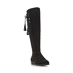 Roberto Vianni - Black 'Teral' tassel knee high boot