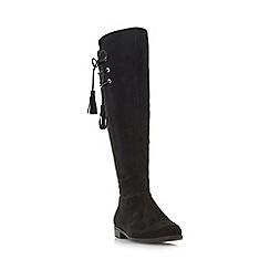 Roberto Vianni - Black 'Teral' tassel knee high boot