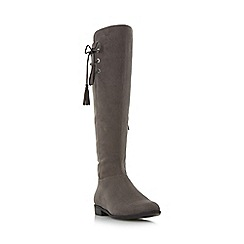 Roberto Vianni - Grey 'Teral' tassel knee high boot