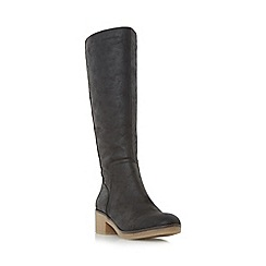 Roberto Vianni - Black 'Tenant' crepe sole knee high boot