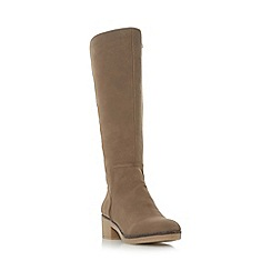 Roberto Vianni - Taupe 'Tenant' crepe sole knee high boot