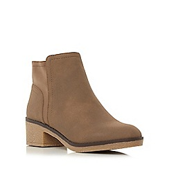 Roberto Vianni - Taupe 'Penant' crepe sole ankle boot
