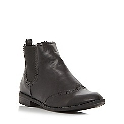 Roberto Vianni - Black 'Procter' brogue detail chelsea boot