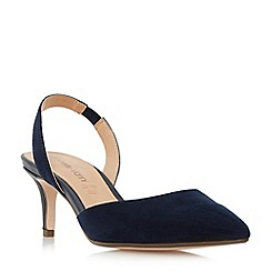 Roberto Vianni - Navy 'Carell' slingback pointed toe court shoes