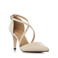 Roberto Vianni - Natural 'Clara' cross strap two part court shoes