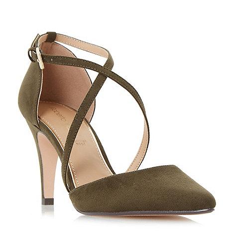 Roberto Vianni - Khaki +Clara+ cross strap two part court shoes