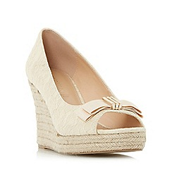 Roberto Vianni - Cream 'Carisa' espadrille peep toe wedge sandals