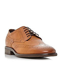 Bertie - Tan 'Butcher' round toe brogue shoe