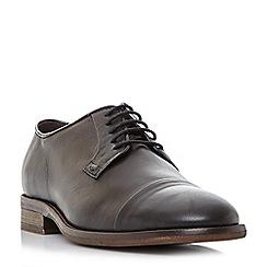 Bertie - Black 'Burrow' toecap detail gibson shoe