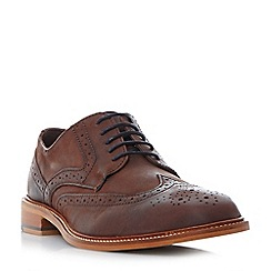 Bertie - Brown 'Baxter 1' leather wingtip brogue shoes