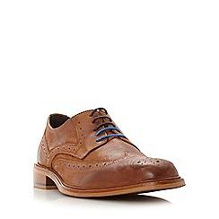 Bertie - Tan 'Baxter 1' leather wingtip brogue shoe