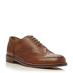 Bertie - Tan 'Braxton 1' oxford leather brogue