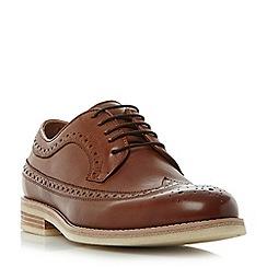Bertie - Tan 'Pusha' gibson brogue shoes