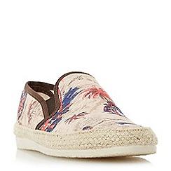 Bertie - Beige 'Fancy' palm tree print espadrille shoes