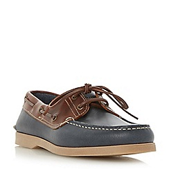 Dune - Brown 'Boat party' leather boat shoes