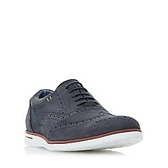 Dune - Navy 'Branson' white wedge sole brogue shoes