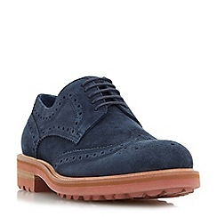 Dune - Navy 'Blindside' colour pop cleated sole brogue shoe